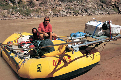Colorado River Notes author Wade Davis running the river. (Image: Island Press)