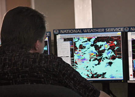 Forecasters Keep an Eye on the Skies