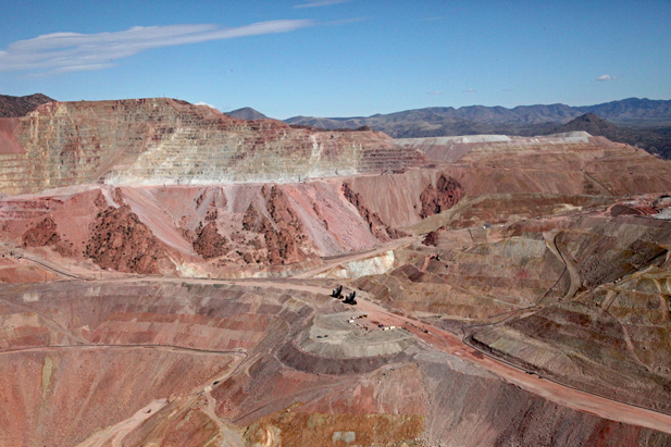 The Morenci Mine in eastern Arizona is the largest open pit copper operation in North America. (Photo by Mark Duggan)