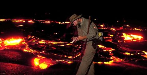 Craig Childs in a lava flow (Picture by Craig Childs)