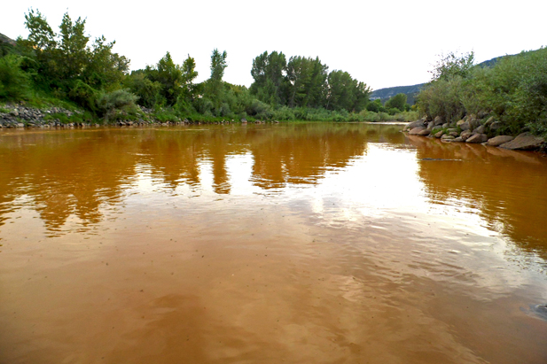 Placid River of Mine Waste