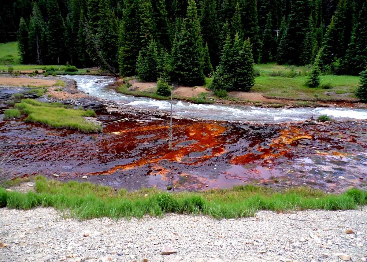 mine drainage near creek