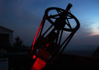 Telescope and sunset