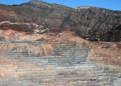 Open pit copper mine in Arizona