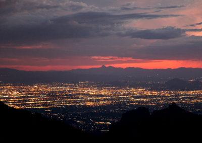 Tucson skyline at dusk