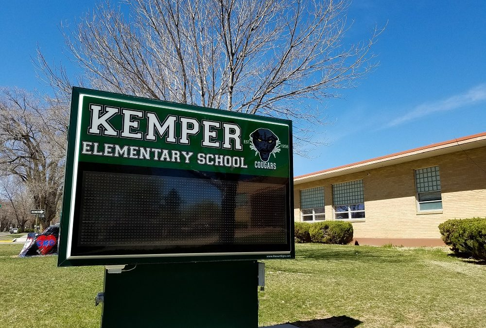 Kemper Elementary School sign