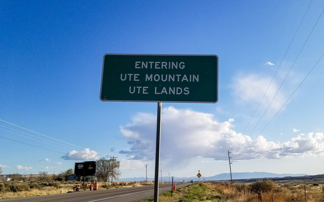 Ute Mountain Ute Tribe Sign