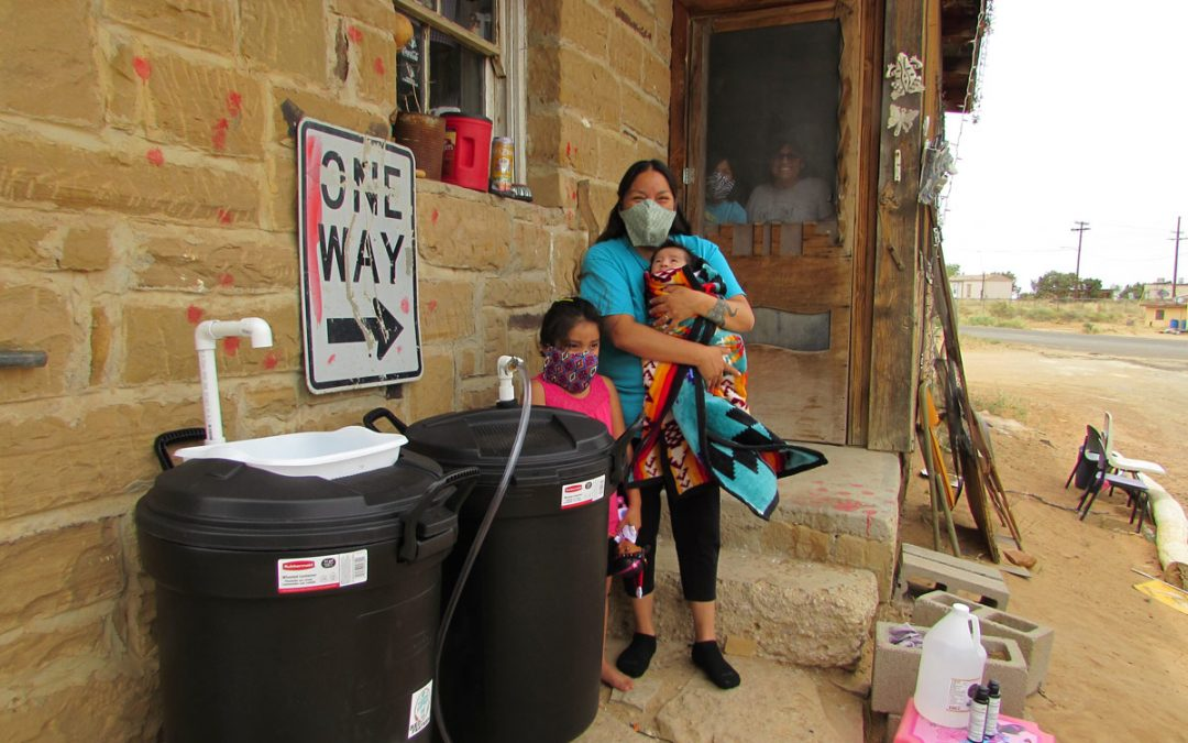 Self-Contained Hand Washing Stations Help Navajo and Hopi Families Who Lack Running Water
