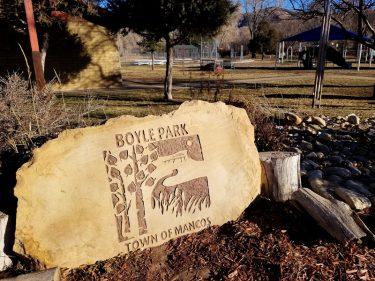 Boyle Park sign Mancos Colorado