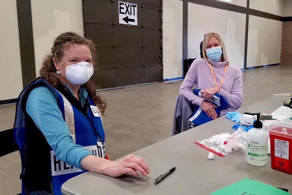 Vaccine clinic volunteers