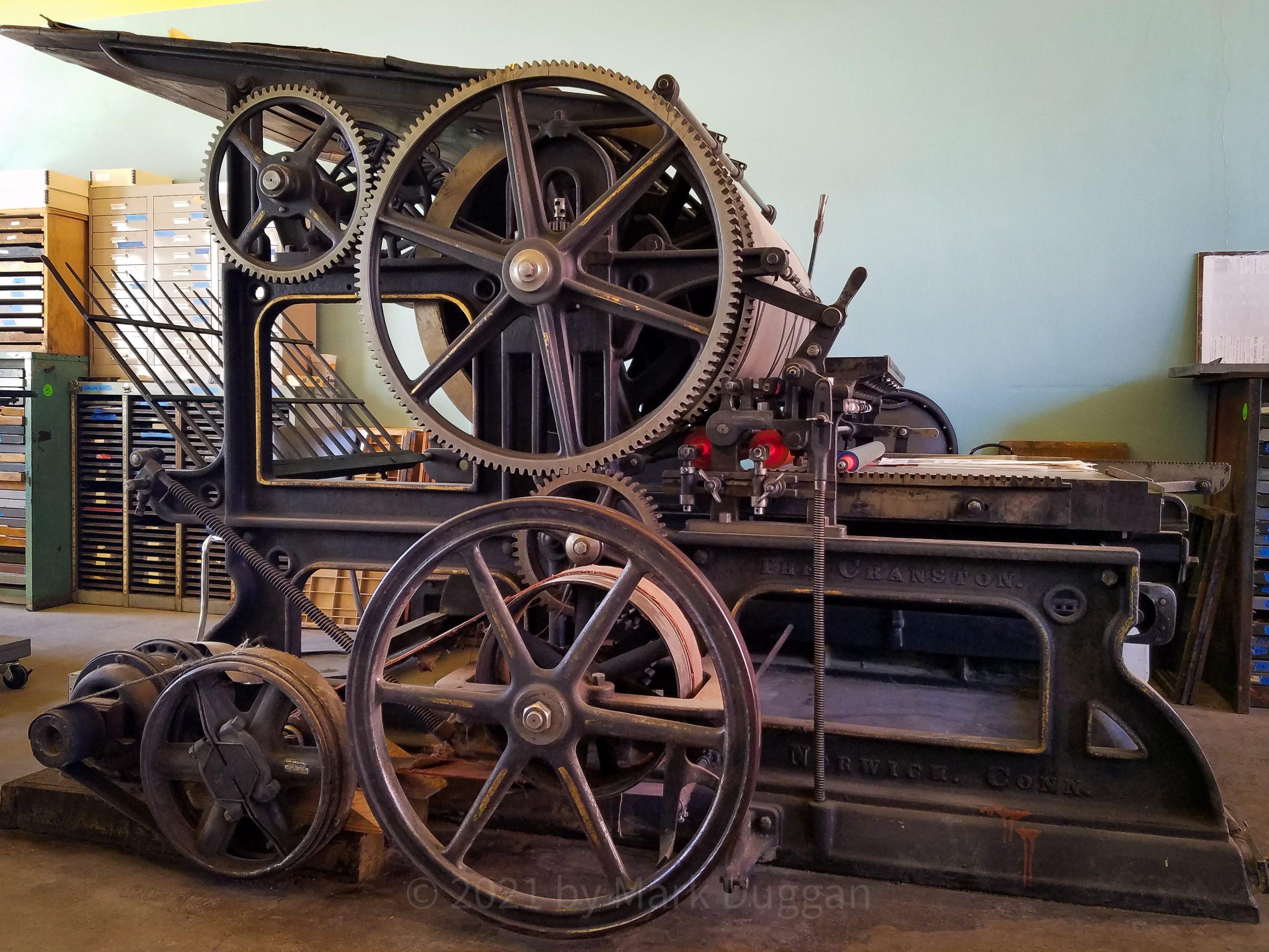 Cranston printing press