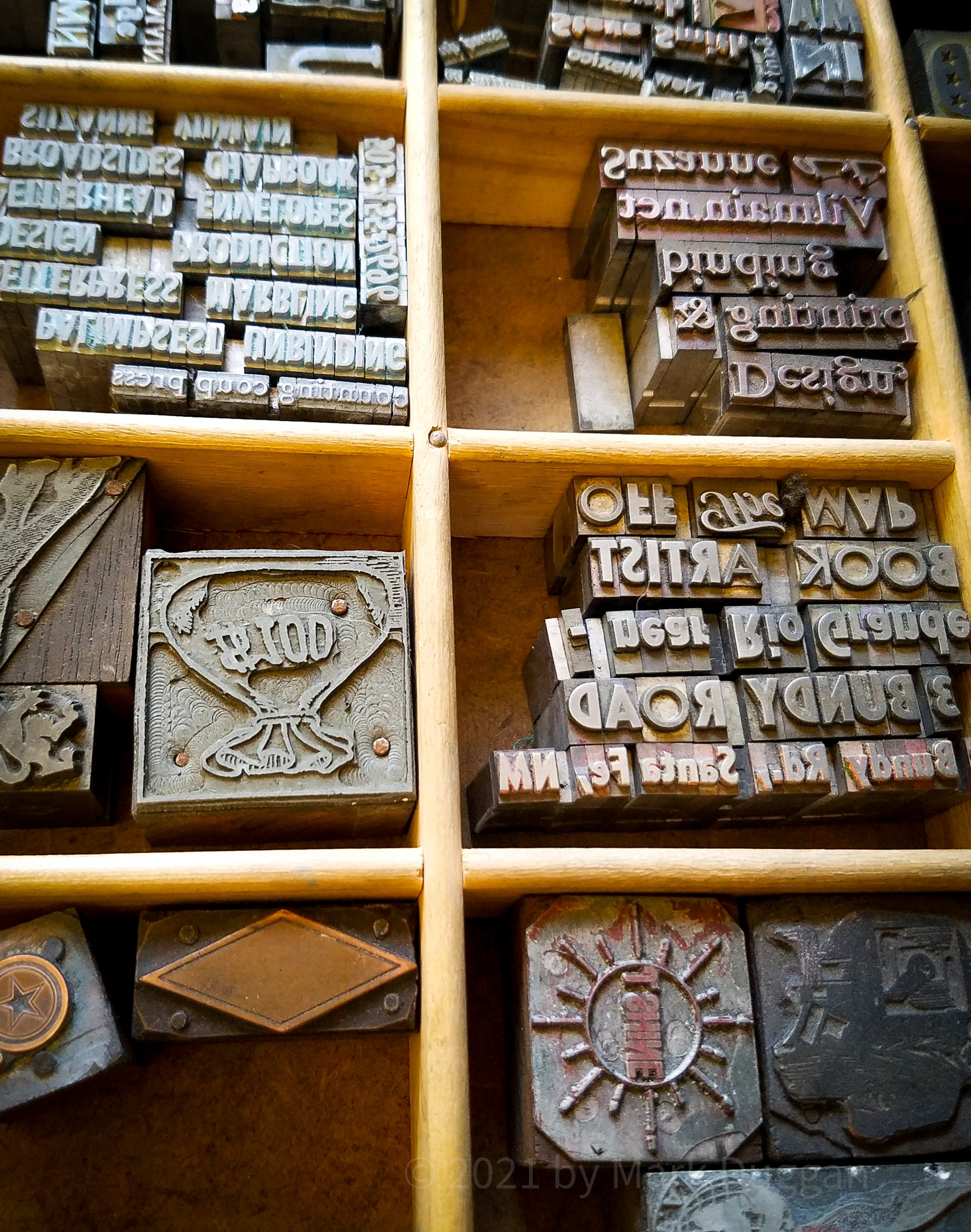 metal type from historic newspaper